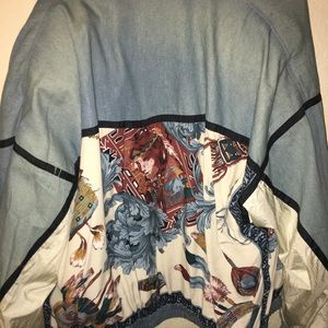 Vintage 80's denim and windbreaker jacket
